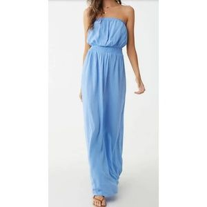 Light Blue Gauze Maxi Dress